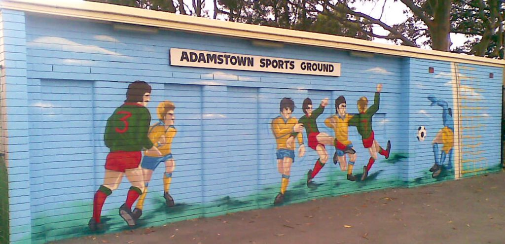 Adamstown Oval entrance mural