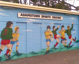 Adamstown Oval entrance mural