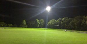 Adamstown Oval under lights